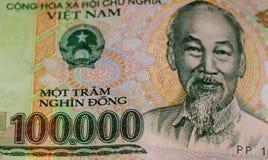 越南金钱东货币100k笔记 库存图片