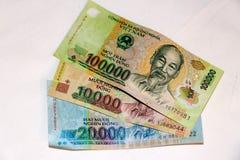 越南金钱东货币100k笔记 免版税图库摄影