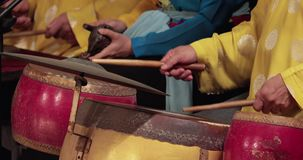 越南音乐家弹奏全国仪器 影视素材