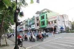 越南颜色街道视图 免版税库存图片