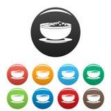 越南食物象设置了颜色 库存例证