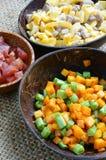 越南食物,炒饭,亚洲吃 免版税图库摄影