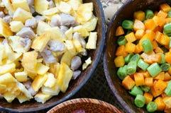 越南食物,炒饭,亚洲吃 库存图片
