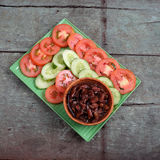 越南食物,虾酱厨师用猪肉 库存图片
