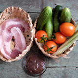 越南食物,虾酱厨师用猪肉 图库摄影