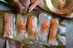越南食物, banh nam, banh马胃蝇蛆地点 库存照片