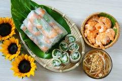 越南食物, goi豺属,沙拉卷 库存图片