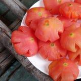 越南食物, Tet,蕃茄果酱,甜吃 免版税库存照片
