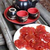 越南食物, Tet,蕃茄果酱,甜吃 库存照片