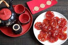 越南食物, Tet,蕃茄果酱,甜吃 库存图片
