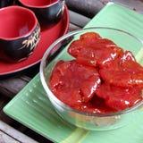 越南食物, Tet,蕃茄果酱,甜吃 免版税图库摄影