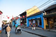 越南,会安市古镇 免版税库存图片