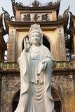 越南,戴Bai,北宁省,权国上午雕象 免版税库存照片