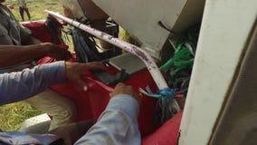越南, 4月15日:收获米,当切开完成 影视素材