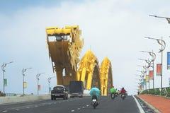 越南 岘港市 龙桥梁 免版税图库摄影