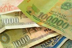 越南货币 库存照片