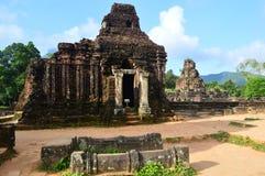 越南-我的儿子-我的儿子圣所可汗越南世界遗产名录废墟  免版税库存照片