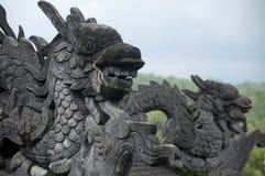 越南-颜色-启定帝皇家坟茔  免版税库存图片
