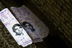 越战纪念碑,特写镜头,在被设计的华盛顿特区  库存图片