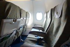 越航航空器内部 免版税库存图片