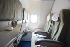 越航航空器内部 免版税图库摄影