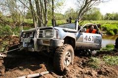 越野卡车冠军, Aluksne,拉脱维亚, 2008年5月10日 库存照片