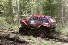 越野卡车冠军, Aluksne,拉脱维亚, 2008年5月10日 免版税库存图片