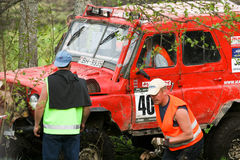 越野卡车冠军, Aluksne,拉脱维亚, 2008年5月10日 图库摄影