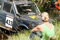 越野卡车冠军, Aluksne,拉脱维亚, 2008年5月10日 免版税库存照片
