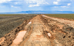 越野在蒙古 免版税库存图片