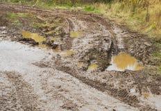 越野在雨以后 免版税库存照片