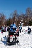 越野滑雪在魁北克 免版税图库摄影
