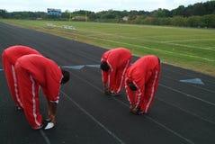越野队锻炼 库存照片