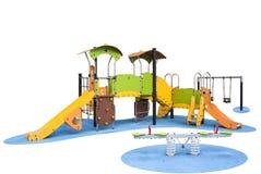 趣味游戏和children&的x27操场; s教育 库存图片