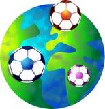 足球世界 库存例证
