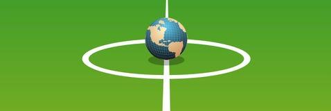 足球世界 向量例证