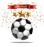 足球传染媒介现实例证 橄榄球庆祝 闪耀的星3d模板 库存例证