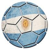 足球全国阿根廷旗子 阿根廷橄榄球球 库存图片