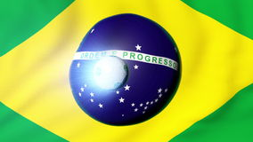 足球动画介绍-巴西2014年 向量例证