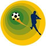 足球向量 皇族释放例证