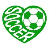 足球在心脏1 免版税库存图片
