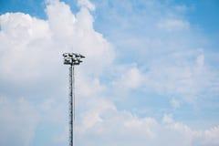 足球场照明设备 免版税库存图片