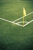 足球场的角落 免版税图库摄影