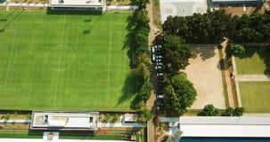 足球场空中风景在雅加达 股票视频