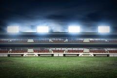 足球场领域看法  免版税库存图片