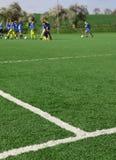 足球培训 免版税库存图片