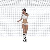 足球女孩 库存例证