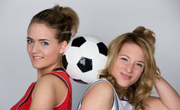 足球妇女 库存照片