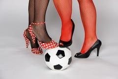 足球妇女 免版税库存图片
