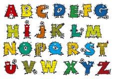 足球字母表 免版税库存照片